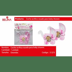 Coche acrilico rosa