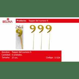 Topper grande oro #9