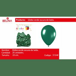 Globo verde oscuro 25unid