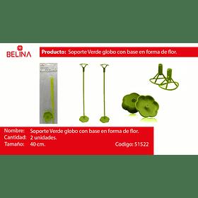 Palitos con base verde