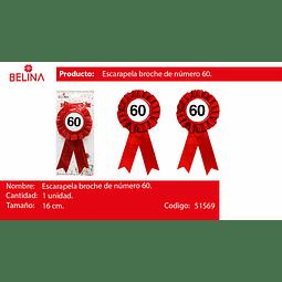 BROCHE DE NUMERO #60
