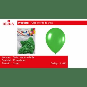 Globo verde 12unid