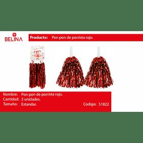 Pompones porrista rojo