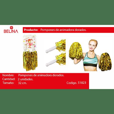 Pompones Porrista Oro