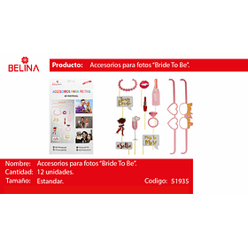 Accesorio fotos bride to be