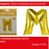 Globo letra M oro 30 pulgadas