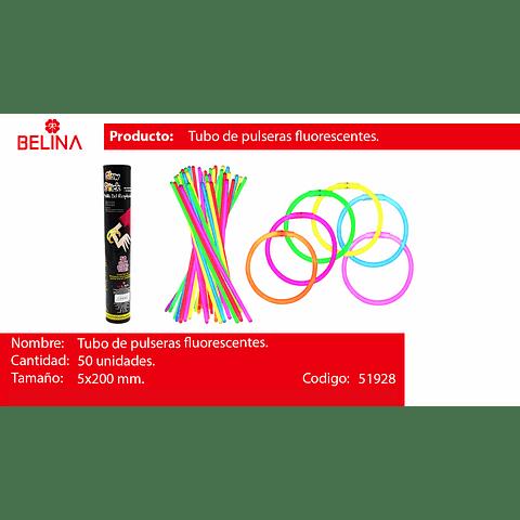 Tubo 50 pulseras luminosas