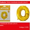 Globo Letra O Oro 30 Pulgadas