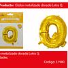 Globo Letra Q Oro 30 Pulgadas