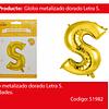 Globo Letra S Oro 30 Pulgadas