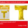 Globo Letra T Oro 30 Pulgadas