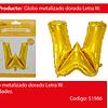 Globo Letra W Oro 30 Pulgadas