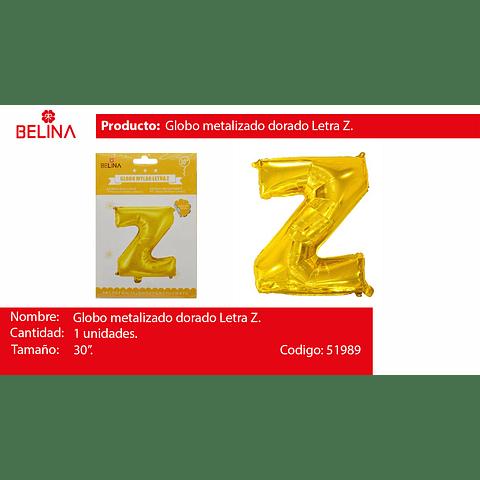 Globo Letra Z Oro 30 Pulgadas