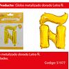 Globo letra Ñ oro 30  pulgadas
