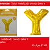 Globo Letra Y Oro 30 Pulgadas