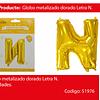 Globo Letra N Oro 30 Pulgadas
