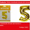 Globo número 5 oro 30 pulgadas