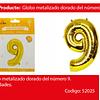 Globo Número 9 Oro 30 Pulgadas