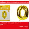 Globo Número 0 Oro 30 Pulgadas