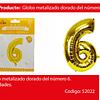 Globo número 6 oro 30 pulgadas