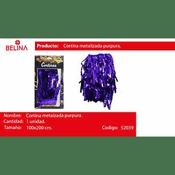 Cortinas metalicas 2m morada