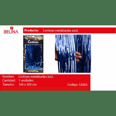 Cortinas metalicas 3m azul