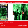 Cortinas metalicas 3m verde