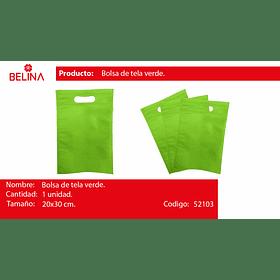 Bolsa de tela verde