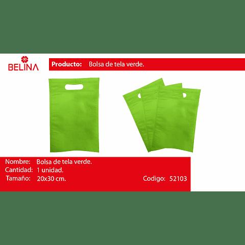 Bolsa Ecológica Verde 20x30cm