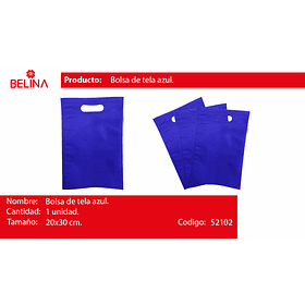 Bolsa de tela azul