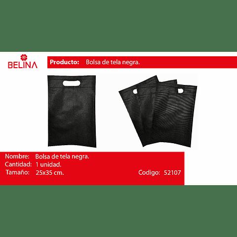 Eco bolsa cuadrada mediana negro