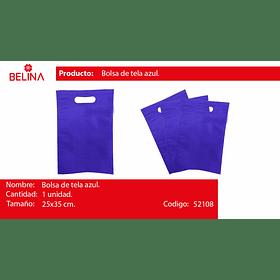 Eco bolsa cuadrada mediana azul