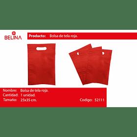 Eco bolsa cuadrada mediana rojo