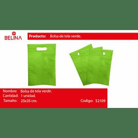 Eco bolsa cuadrada mediana verde