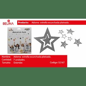Guirnalda de estrellas plata