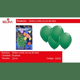 Globo verde oscuro 50unid