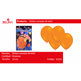 Globo naranja 50unid