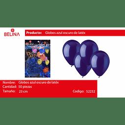 Globo azul 50unid
