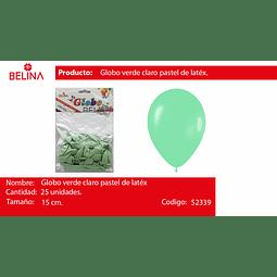 Globo pastel 25unid verde agua