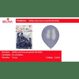 Globo pastel 25unid azul