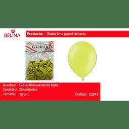 Globo pastel 25unid verde manzana