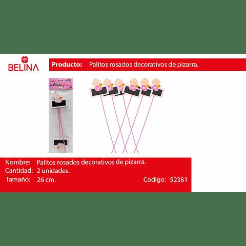 Palitos decorativo pizarra rosa