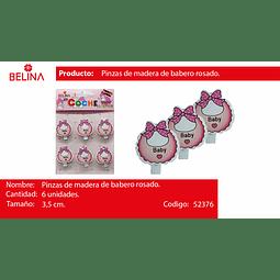 PINZA MADERA DE BABERO ROSA