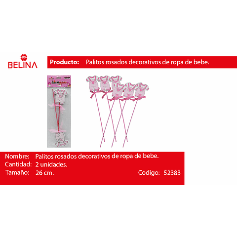 Palitos decorativo ropa rosa