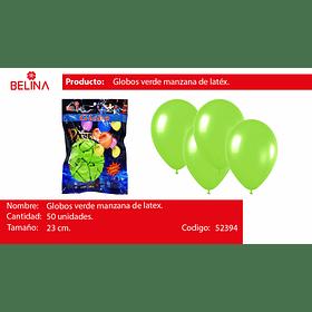 Globo verde manzana 50unid
