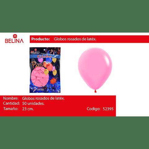 Globo rosa claro 50unid