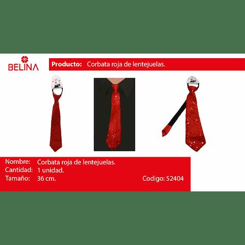 Corbata de lentejuelas rojo
