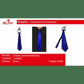 Corbata de lentejuelas azul