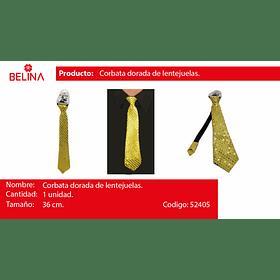 Corbata de lentejuelas oro