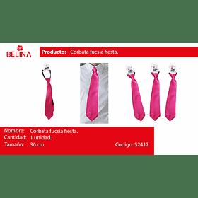 Corbata de saten rosado